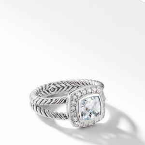 David Yurman Petite Albion Ring - White Topaz